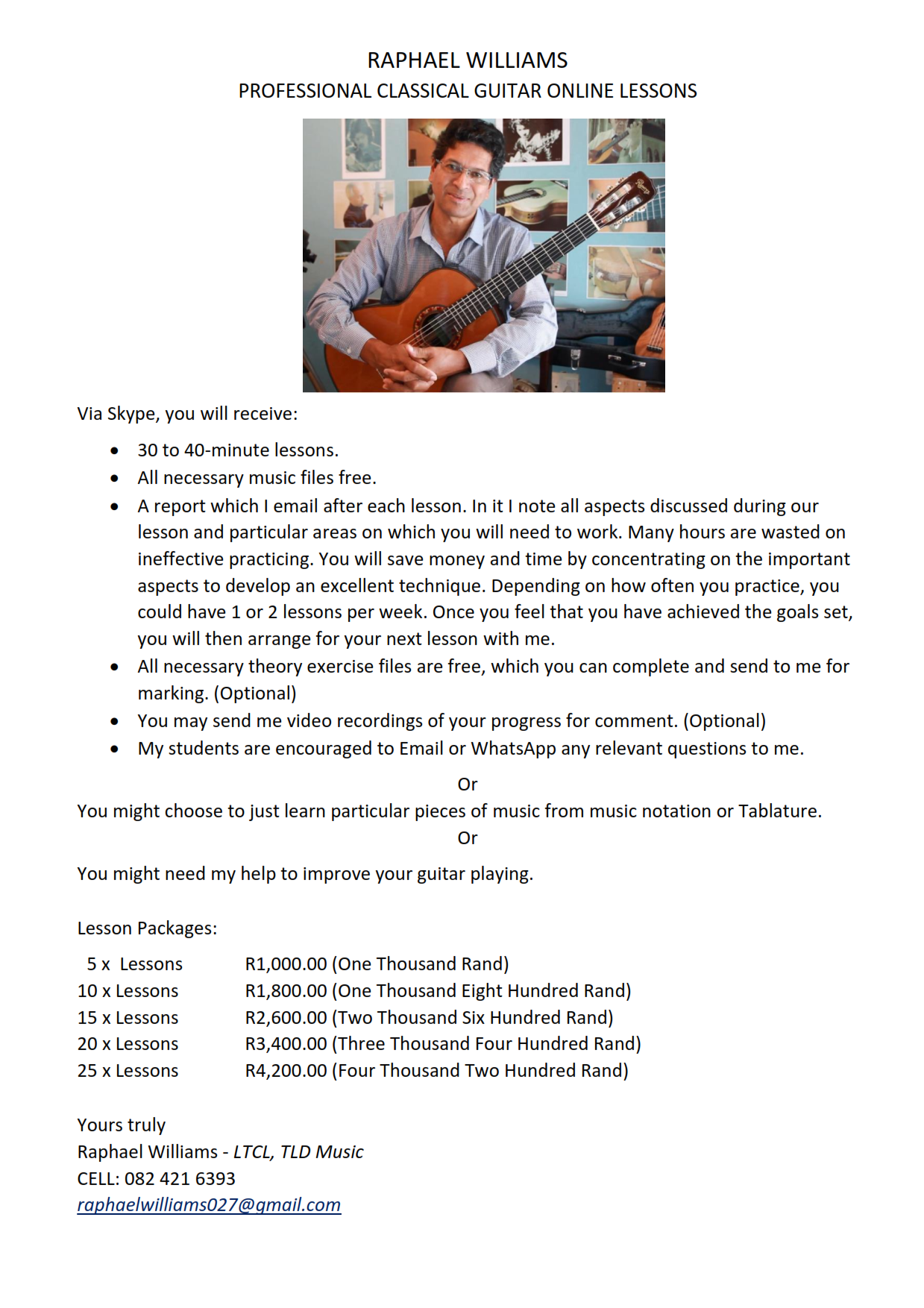 online guitar lessons ad